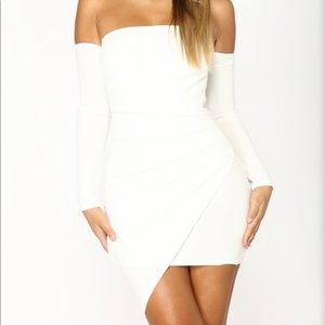 Fashion Nova Feelin' My Vibe White M Dress